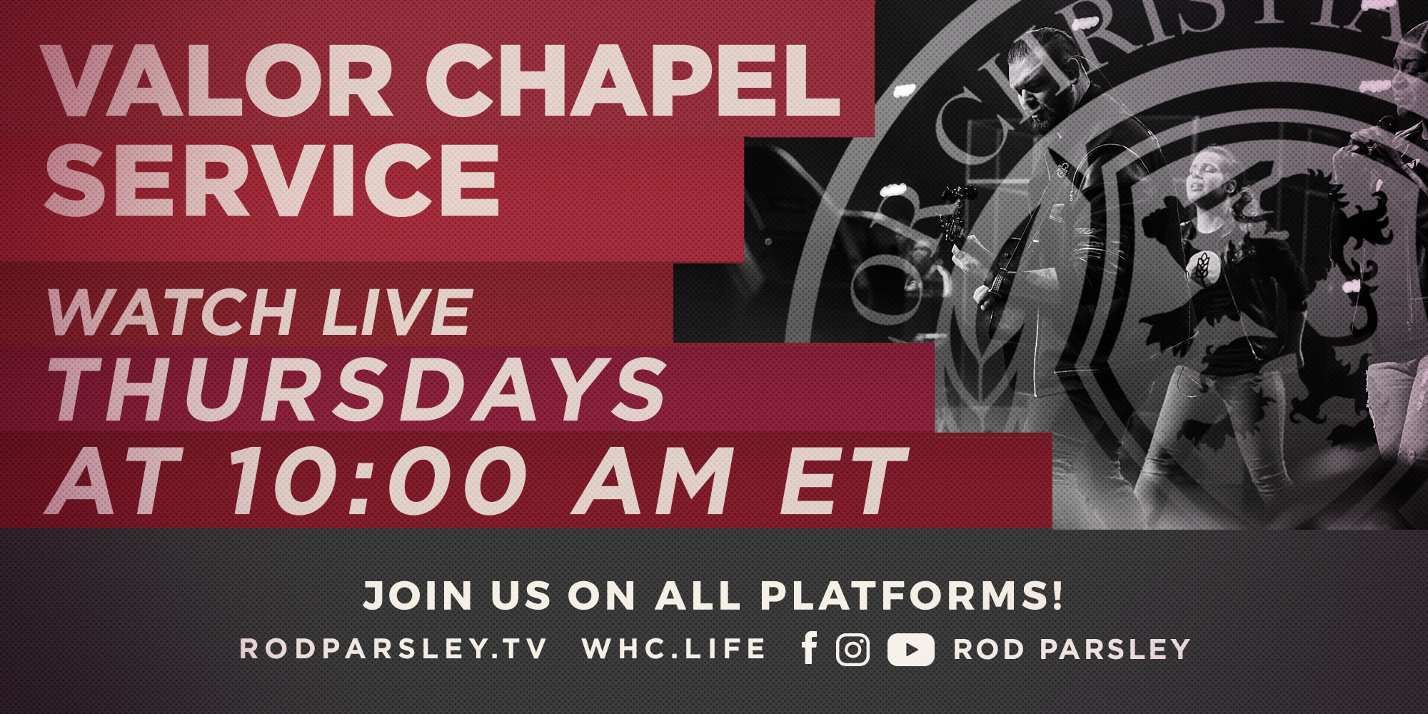 Join us at 10am on All Platforms! Rodpasley.Tv · Whc.Life · Facebook Instagram Youtube Rod Parsley Thursday